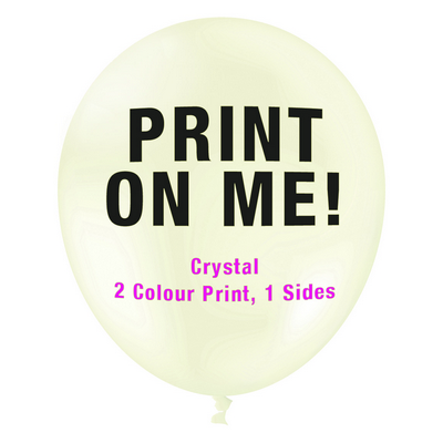 30cm Crystal Balloon - Neck Down - Clear