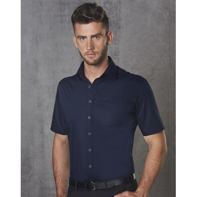 Barkley Mens Taped Seam Short Sleeve Shirt