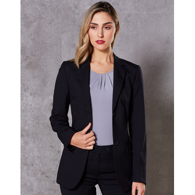 WomenS Wool Blend Stretch Mid Length Jacket