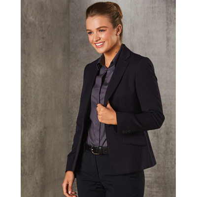 WomenS PolyViscose Stretch One Button Cropped Jack