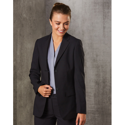 WomenS PolyViscose Stretch Two Buttons Mid Length