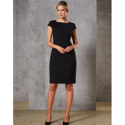 Ladies Wool Blend Stretch Cap Sleeve Dress
