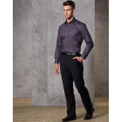 MenS Wool Blend Stretch Flexi Waist Pants