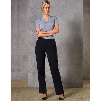 Women Wool Blend Stretch Slim Leg Flexi Waist Pant