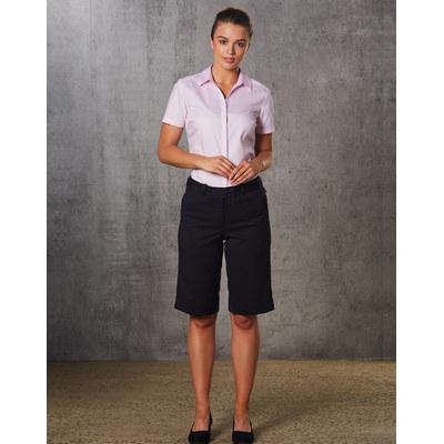 WomenS PolyViscose Stretch Knee Length Flexi Waist