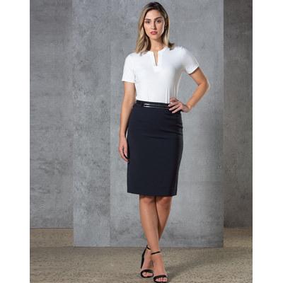 Ladies Twill Stretch Utility Skirt