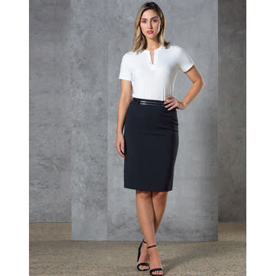 Ladies Twill Stretch Utility Skirt