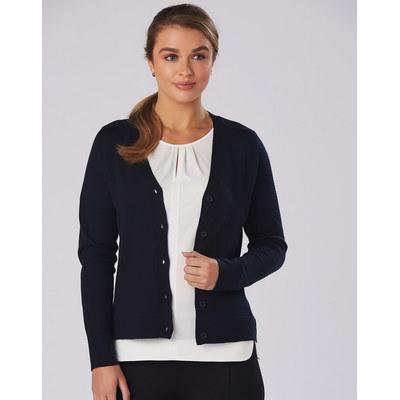 Women V-Neck Long Sleeve Cardigan