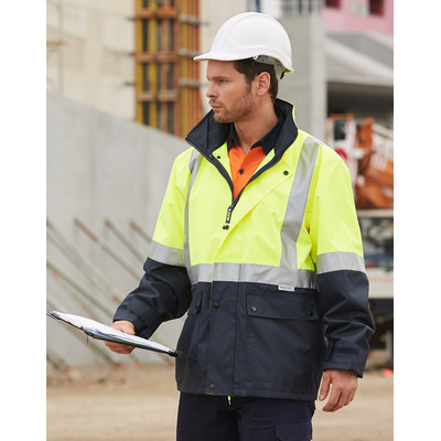 Hi-Vis Safety Jacket With Mesh Lining & 3M Tapes