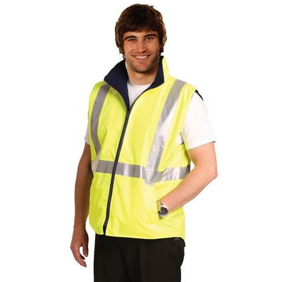 Hi-Vis Reversible Safety Vest With 3M Tapes