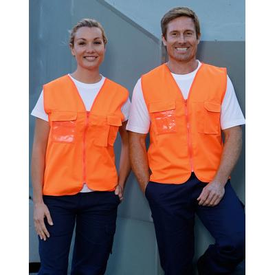 Hi-Vis Safety Vest With Id Pocket