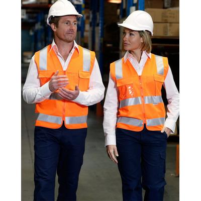 Hi-Vis Safety Vest With Id Pocket & 3M Tapes