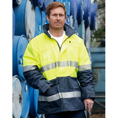 Hi-Vis Long Line Jacket Polar With Fleece Lining