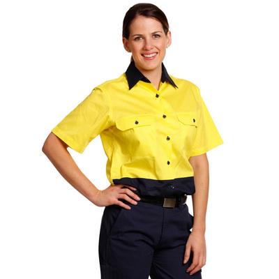 Women Short Sleeve Safety Shirt