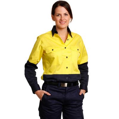 Women Long Sleeve Safety Shirt