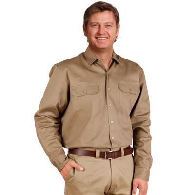Cotton Drill Long Sleeve Work Shirt