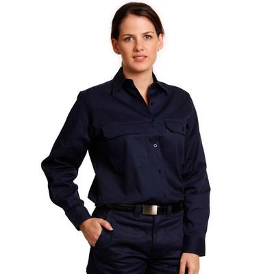 Women Cotton Drill Work Shirt