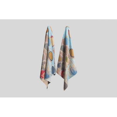Colour Plus Printed medium beach towel edge to edg