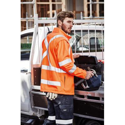 Unisex Hi Vis 2 in 1 X Back Soft Shell Jacket