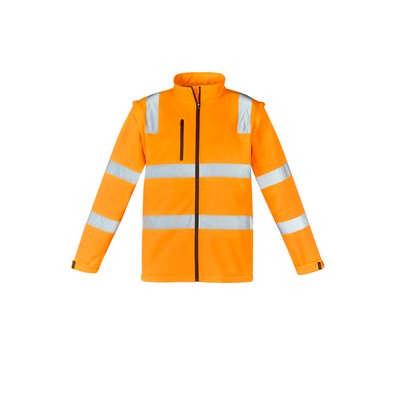 Unisex Hi Vis Vic Rail 2 in 1 Softshell Jacket