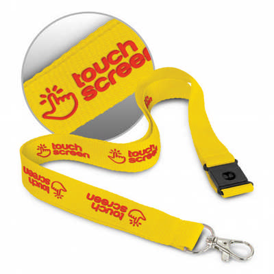 3D Logo Lanyard - (printed with 1 colour(s)) 116612_TRDZ