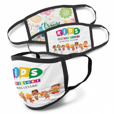 Full Colour 3-Ply Reusable Face Mask - Indent