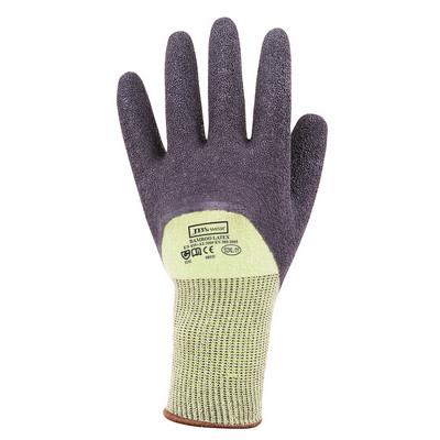 JBs Bamboo Latex Crinkle 34 Dipped Glove 12Pk GrnB
