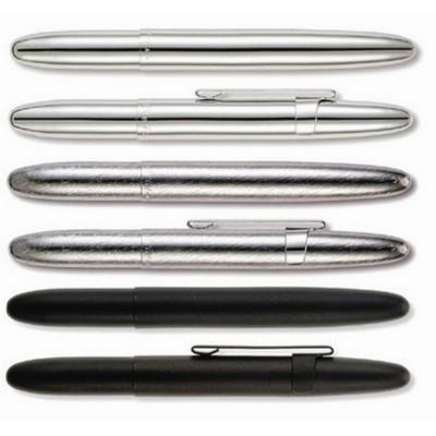 Bullet Pen with Clip (brush chrome)