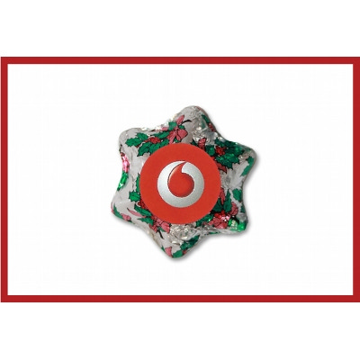Christmas Holly Chocolate Star with label