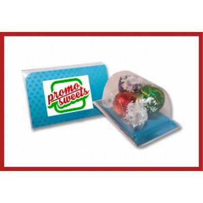 Biz card treat with lindor balls