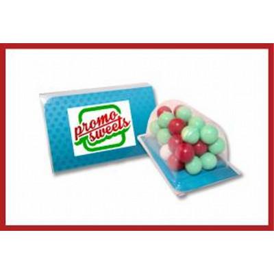Biz card treat with Christmas choc balls